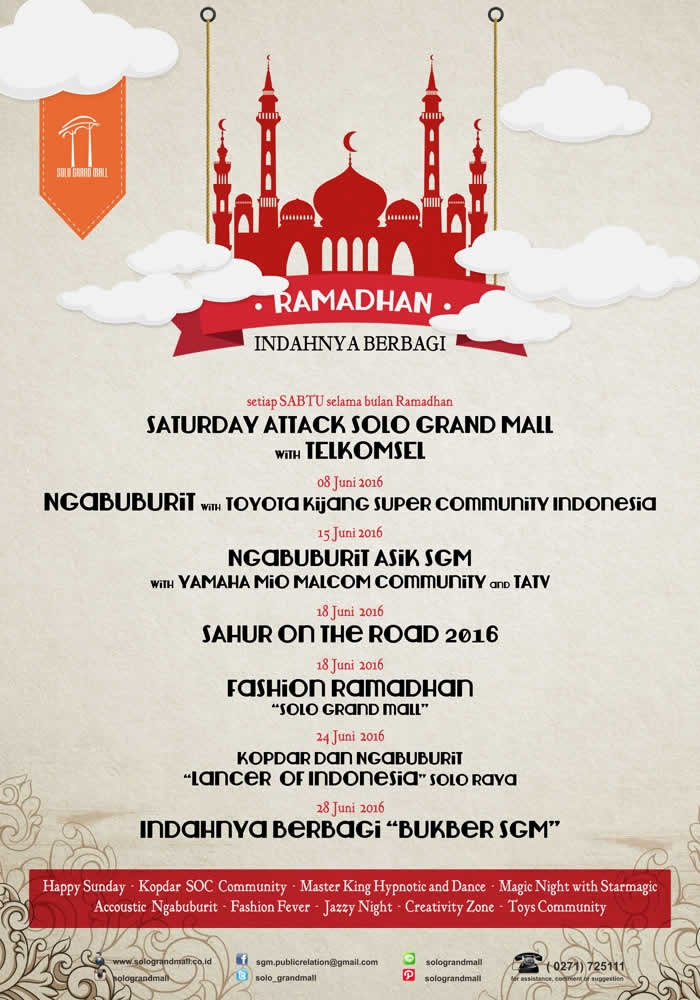 KALENDER EVENT RAMADHAN SOLO GRAND MALL